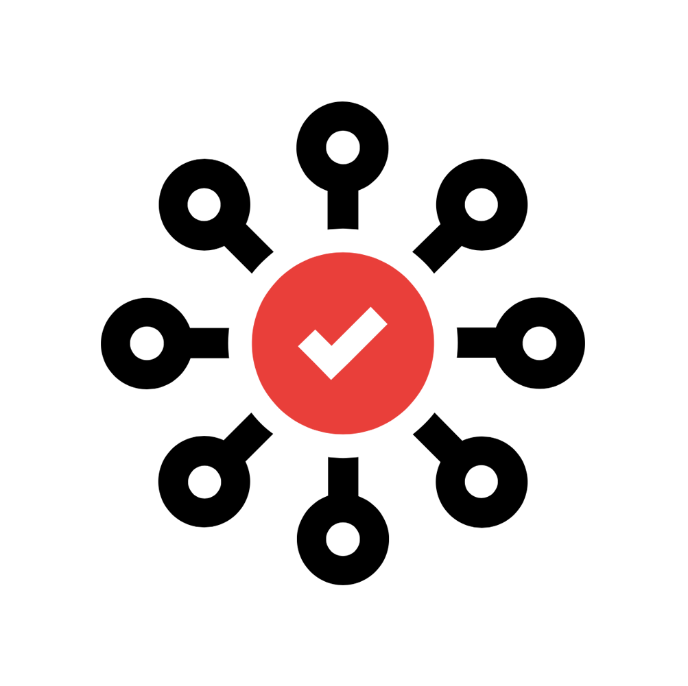 results icon with checkmark